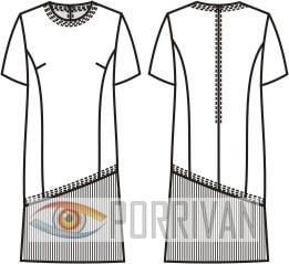 Выкройка платья прямого покроя