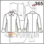 Выкройка блузки с потайной застёжкой