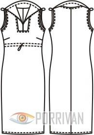 Платье с воротником на молнии