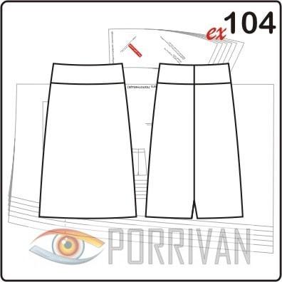 Выкройка юбки с размерами 44, 46, 48, 50, 52, 54