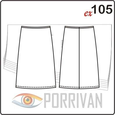 Выкройка юбки для размеров 44, 46, 48, 50, 52, 54