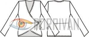 Выкройка трикотажного жакета или кофты