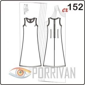 Выкройка свободного платья в пол без рукавов большого размера