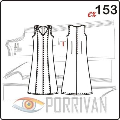 Приталенное платье в пол с рельефами большого размера