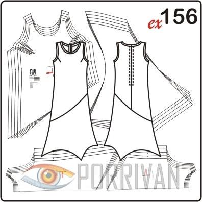 Платье для полных с асимметричной линией низа