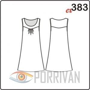 Выкройка легкого платья без рукавов