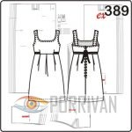 Выкройка летнего сарафана с завязками. Размеры 38, 40, 42, 44, 46, 48.