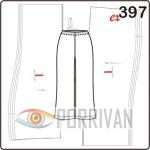 Выкройка брюк с поясом на резинке длиной 3/4. Построение для размеров 50, 52, 54, 56.