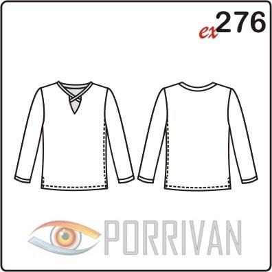 Выкройка блузки с оригинальной окантовкой горловины