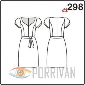 Выкройка платья в духе 50-х годов
