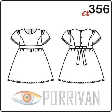 Выкройка платья для девочки с застёжкой на спине
