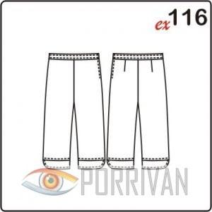 Выкройка прямых женских брюк с манжетами