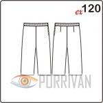 Простые брюки капри, летняя выкройка