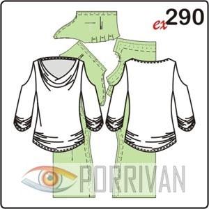 Выкройка блузки из трикотажа с оригинальными рукавами