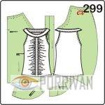 Выкройка блузки из трикотажа без рукавов