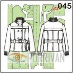 Выкройка двубортной куртки