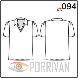 выкройка блузки в спортивном стиле с коротким рукавом