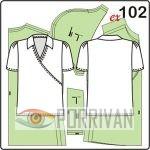 выкройка трикотажной блузки с эффектом запаха