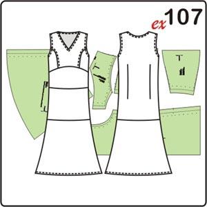 ыкройка летнего шёлкового платья