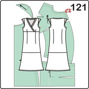 Выкройка длинного платья с рукавами крылышками