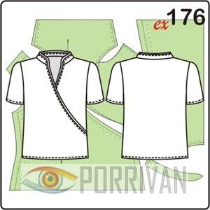 выкройка трикотажной блузки с короткими рукавами