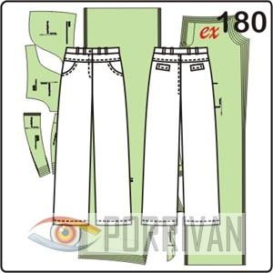 выкройка женских брюк в джинсовом стиле