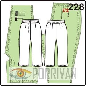 выкройка брюк капри с шлицами, молнией и поясом