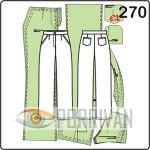 Выкройка прямых брюки классического покроя с накладными карманами