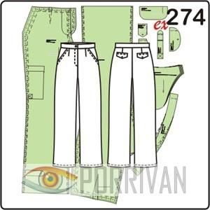Выкройка прямых брюк без шлёвк на поясе