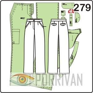 Выкройка прямых брюк