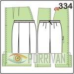 выкройка прямой юбки с тремя разрезами