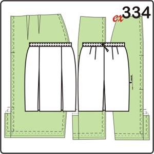 двумя с выкройка разрезами юбки