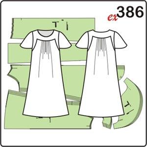 выкройка платья для полных женщин с кокетками