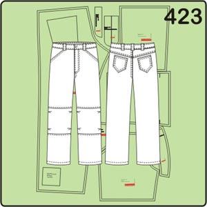 выкройка мужских брюк с защипами