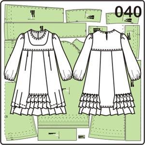выкройка платья для девочки в народном стиле