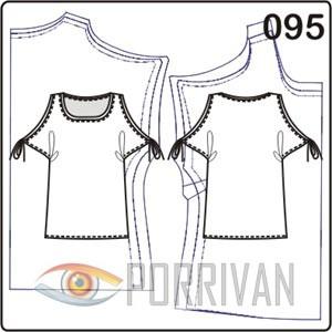 выкройка блузки с цельнокроеными рукавами