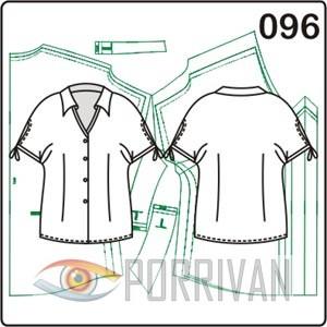 выкройка летней блузки с цельнокроеным рукавом