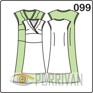 выкройка платья с отрезным лифом и воланом