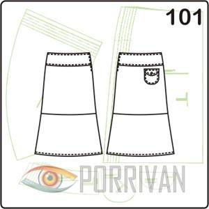 выкройка юбки с воланом выше колена