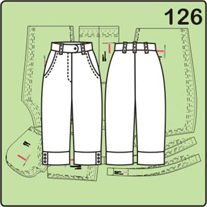 Выкройка брюк длиной ¾