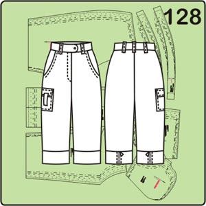 выкройка летних женских брюк длиной 3/4