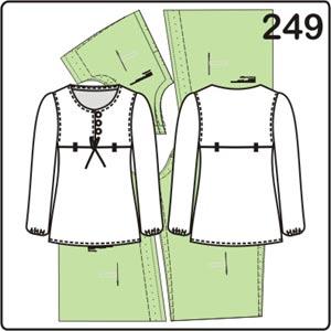 простая выкройка блузки с завышенной талией