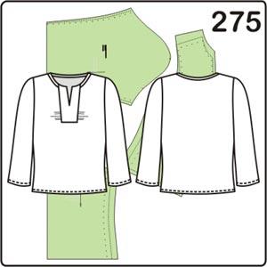 выкройка блузки с длинными рукавами