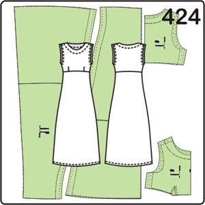 выкройка длинного платья без рукавов