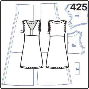 2 выкройки платьев из эластичной ткани
