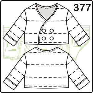 Выкройка жакета без воротника для деток от 3 до 12 месяцев