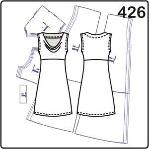 выкройка платья с драпировкой горловины качели