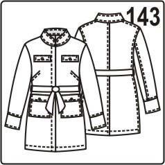 бесплатная выкройка женского летнего жакета, размеры 42, 44, 46, 48, 50, 52
