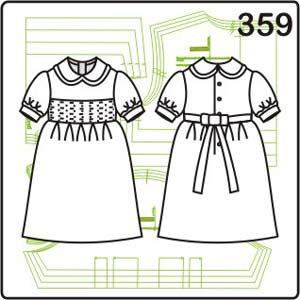 выкройка детского платья с бантом