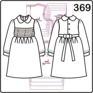 выкройка нарядного платья для девочки